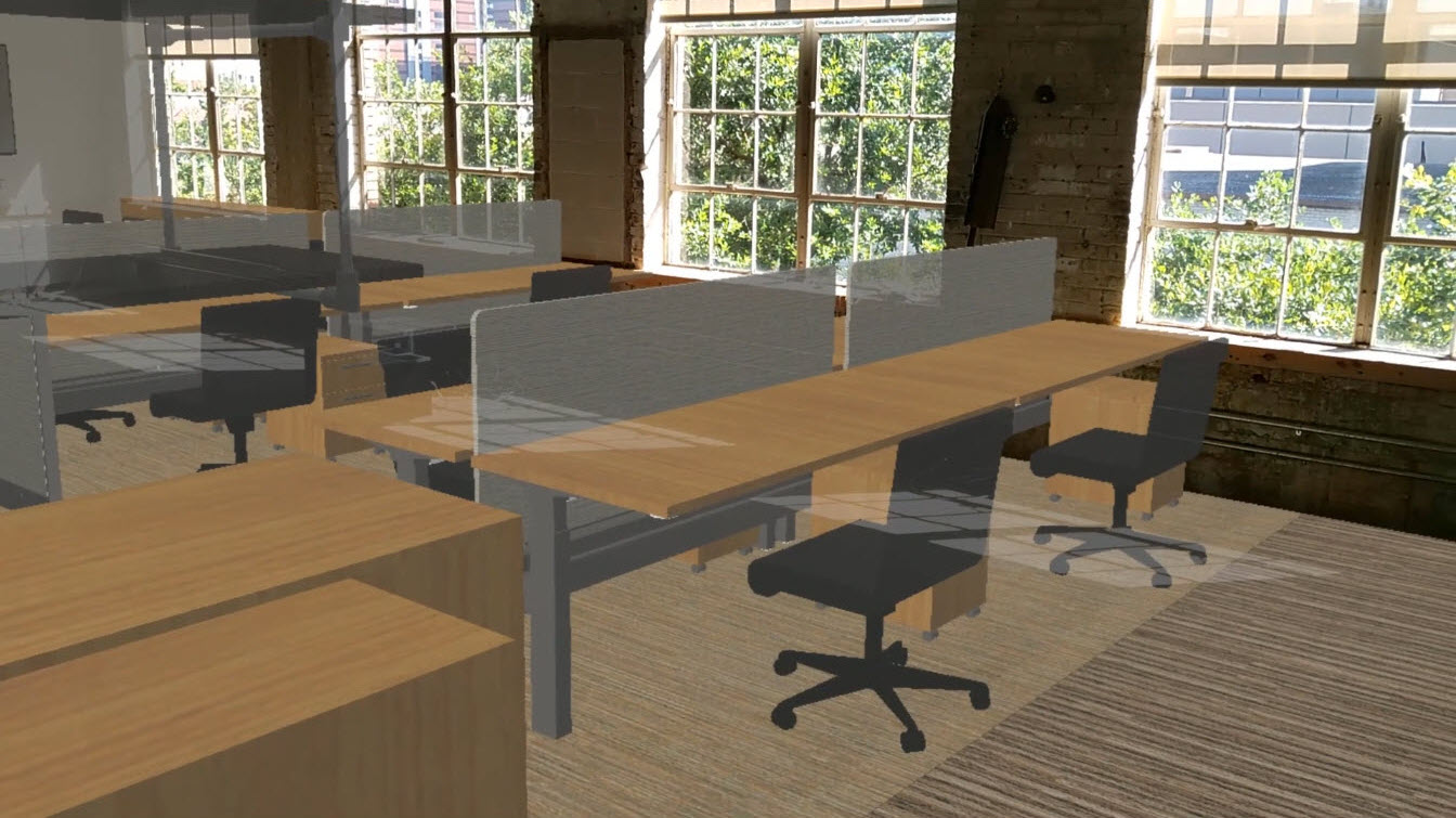 Mixed Reality view of Lake Flato office remodel