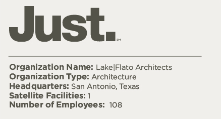 Lake Flato JUST label header information
