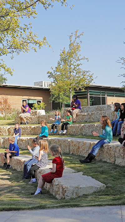 outdoor learning environment for school aged children