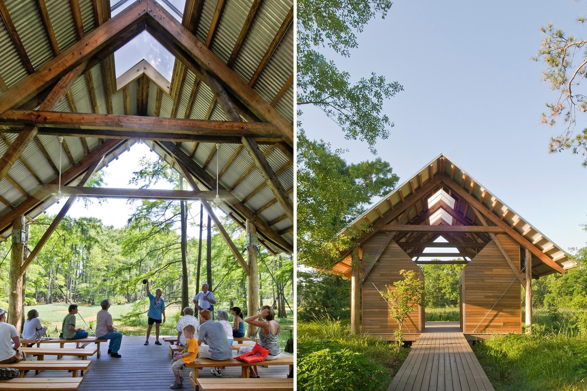 Shangri La Nature Center Lake Flato