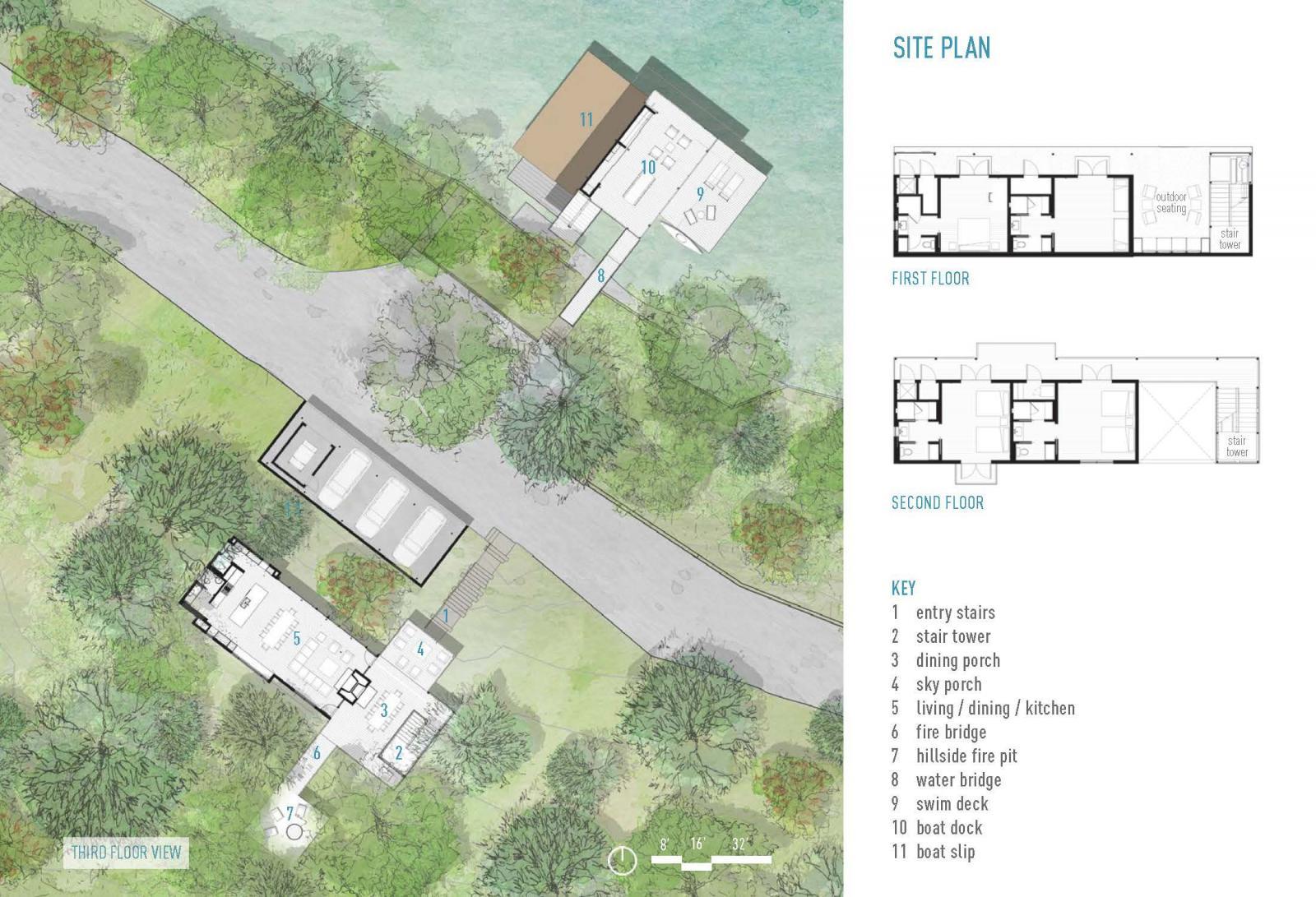Blue Lake Retreat site plan