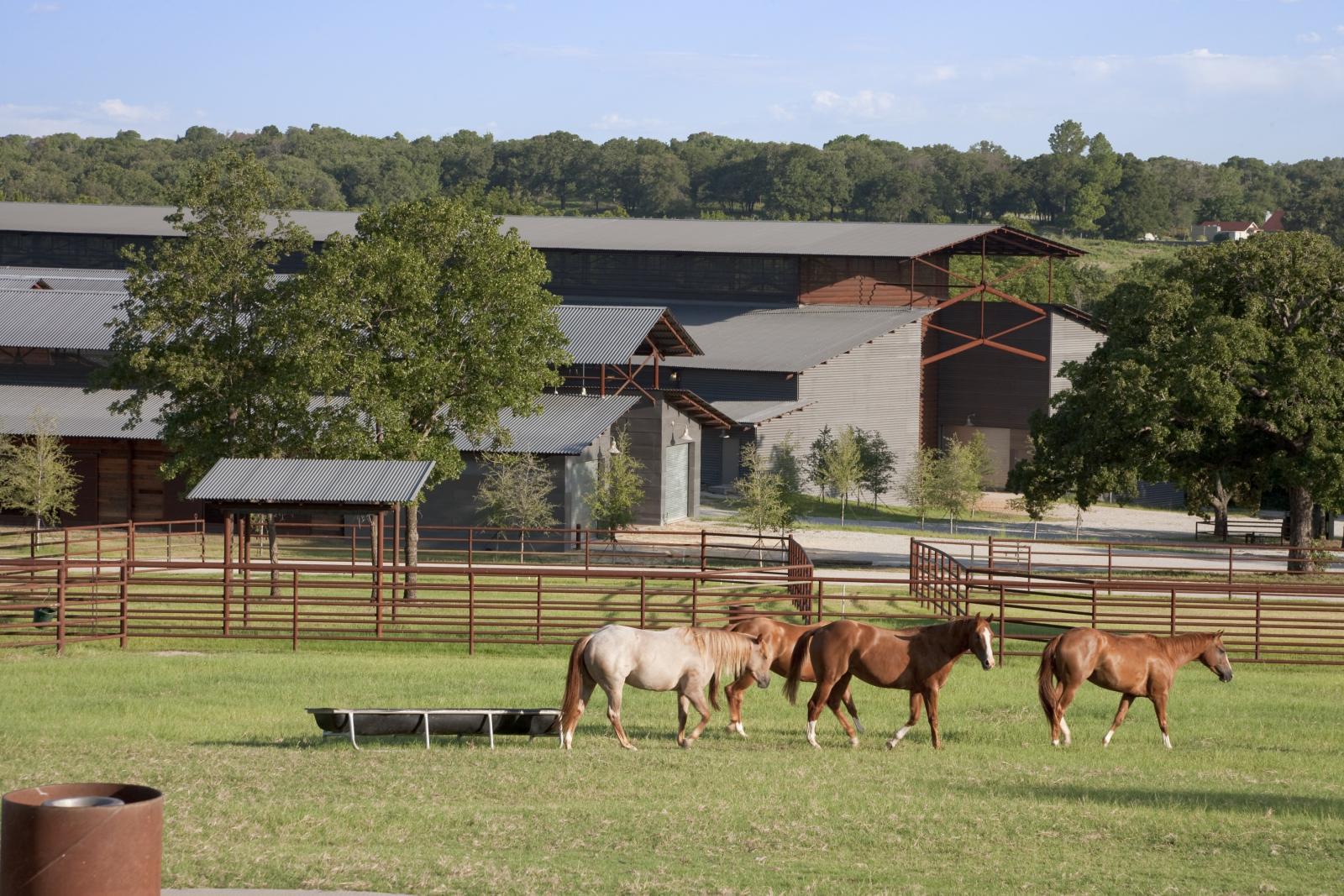 Cutting horse ranch lake flato for Horse farm
