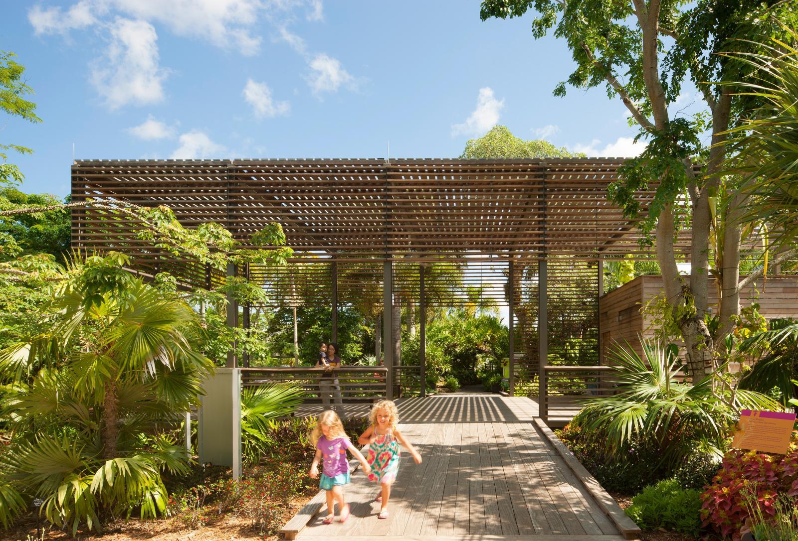 Naples Botanical Garden Visitor Center Lake Flato